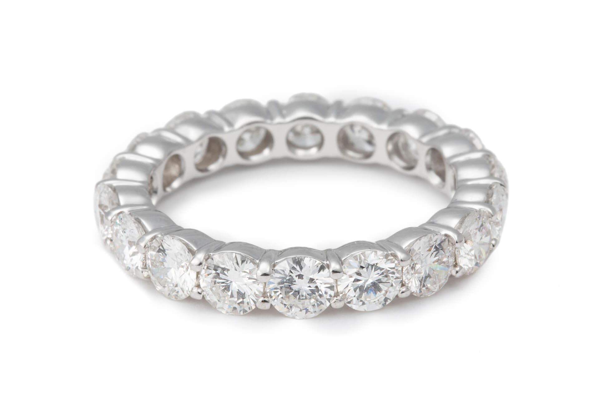 This is a picture of Women's 38.38CT Diamond Eternity Wedding Band in 38K White Gold